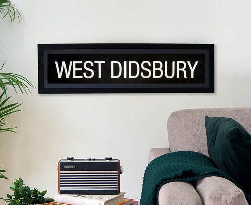 West Didsbury Framed Bus Blind