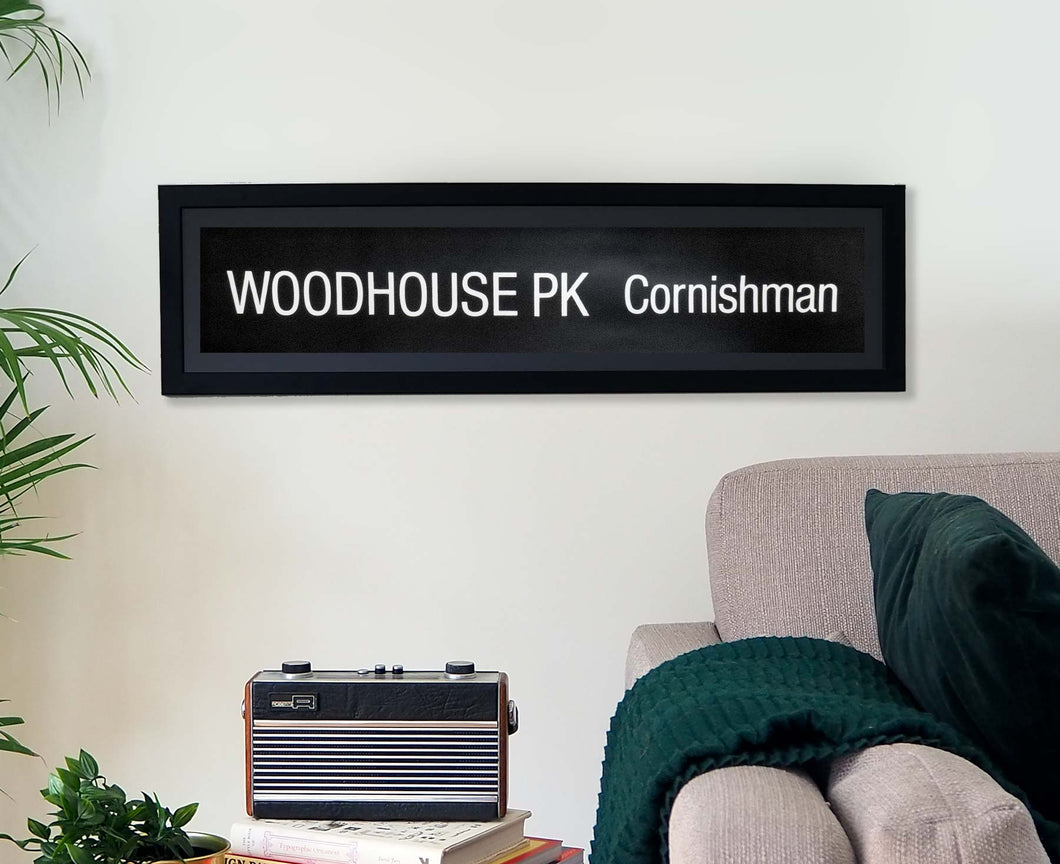Woodhouse Park Cornishman Framed Bus Blind