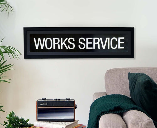 Works Service Framed Bus Blind