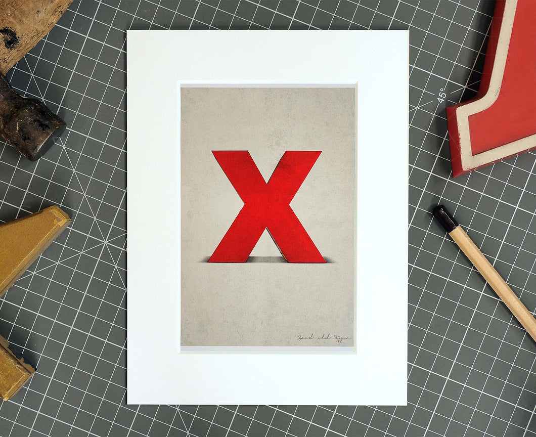 Letter X Salvaged Signage postcard