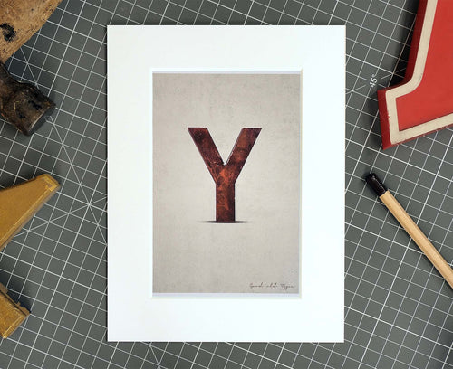 Letter Y Salvaged Signage postcard