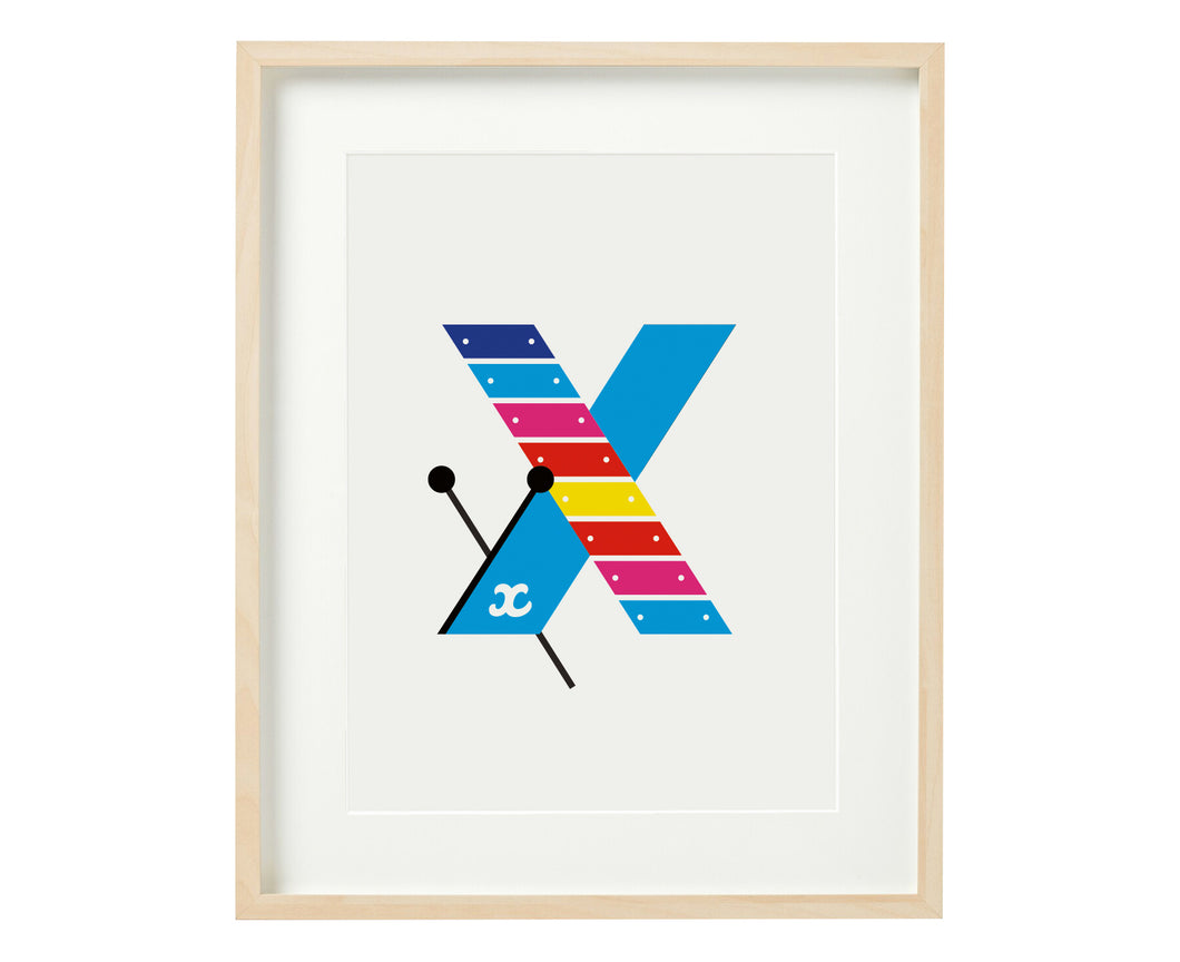 Letter X xylophone print