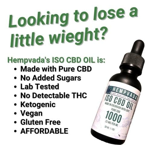 Looking to lose weight? Try our iso CBD Oil today!