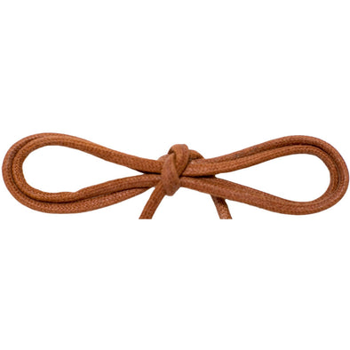 "Waxed Cotton Thin Round 1/8"" Dress Laces - Cognac (2 Pair Pack) Shoelaces from Shoelaces Express"