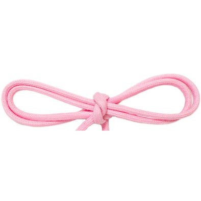 "Waxed Cotton Thin Round 1/8"" Dress Laces - Pastel Pink (2 Pair Pack) Shoelaces from Shoelaces Express"