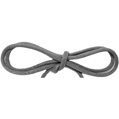 "Waxed Cotton Thin Round 1/8"" Dress Laces - Dark Gray (2 Pair Pack) Shoelaces from Shoelaces Express"