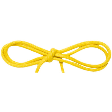 Waxed Cotton Thin Round Dress Laces 12 Pack - Yellow (12 Pair Pack) Shoelaces from Shoelaces Express