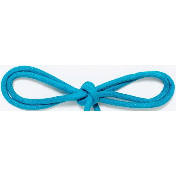 "Wholesale Waxed Cotton Thin Round Dress Laces 1/8"" - Turquoise (12 Pair Pack) Shoelaces from Shoelaces Express"