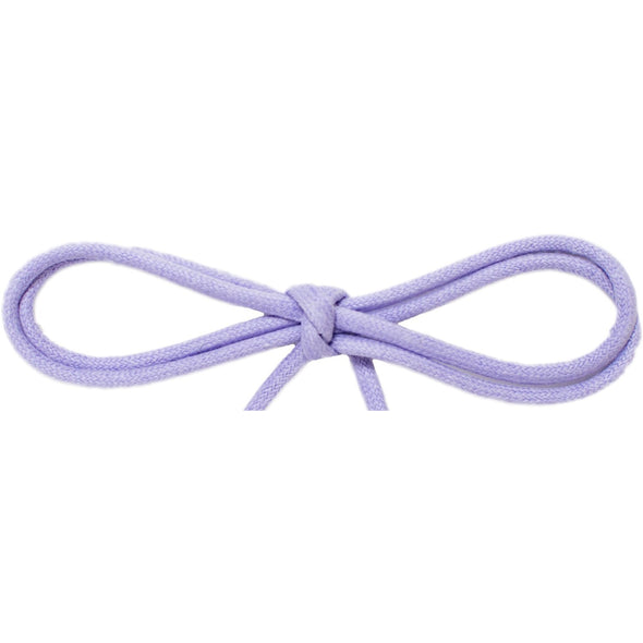 "Wholesale Waxed Cotton Thin Round Dress Laces 1/8"" - Violet (12 Pair Pack) Shoelaces from Shoelaces Express"