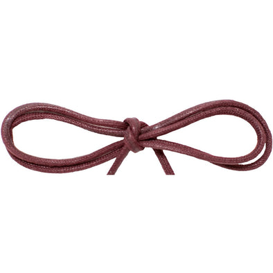 "Wholesale Waxed Cotton Thin Round Dress Laces 1/8"" - Burgundy (12 Pair Pack) Shoelaces from Shoelaces Express"