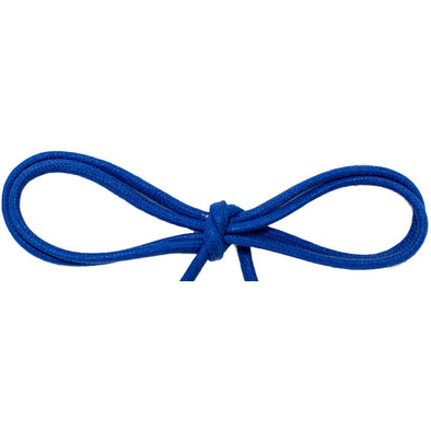 "Waxed Cotton Thin Round 1/8"" Dress Laces - Royal Blue (2 Pair Pack) Shoelaces from Shoelaces Express"