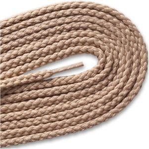 Round Braided Laces - Beige (2 Pair Pack) Shoelaces from Shoelaces Express