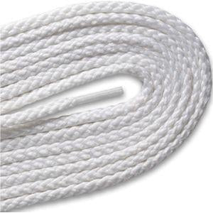 Round Braided Laces - White (2 Pair Pack) Shoelaces from Shoelaces Express