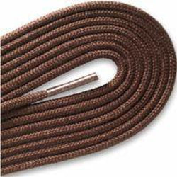 "Fashion Thin Round Dress 1/8"" Laces Custom Length with Tip - Brown (1 Pair Pack) Shoelaces from Shoelaces Express"