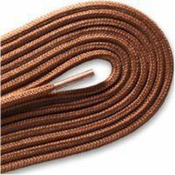 "Fashion Thin Round Dress 1/8"" Laces Custom Length with Tip - Cognac (1 Pair Pack) Shoelaces from Shoelaces Express"