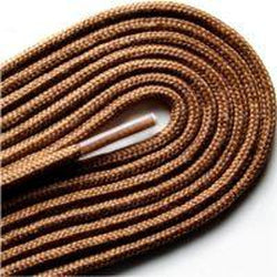 "Fashion Thin Round Dress 1/8"" Laces Custom Length with Tip - Light Brown (1 Pair Pack) Shoelaces from Shoelaces Express"
