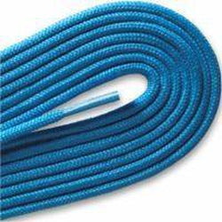 "Fashion Thin Round Dress 1/8"" Laces Custom Length with Tip - Neon Blue (1 Pair Pack) Shoelaces from Shoelaces Express"