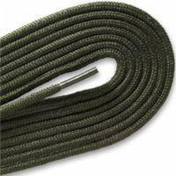"Fashion Thin Round Dress 1/8"" Laces Custom Length with Tip - Olive Green (1 Pair Pack) Shoelaces from Shoelaces Express"