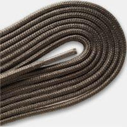 "Thin Round Fashion Dress 1/8"" Laces - Taupe Gray (2 Pair Pack) Shoelaces from Shoelaces Express"