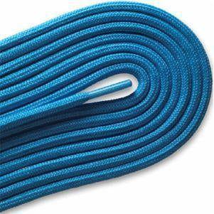 "Fashion Casual/Athletic Round 3/16"" Laces Custom Length with Tip - Neon Blue (1 Pair Pack) Shoelaces from Shoelaces Express"