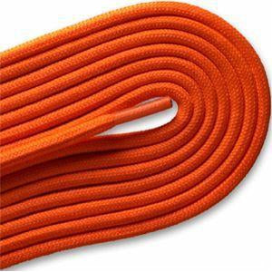 "Fashion Casual/Athletic Round 3/16"" Laces Custom Length with Tip - Neon Orange (1 Pair Pack) Shoelaces from Shoelaces Express"