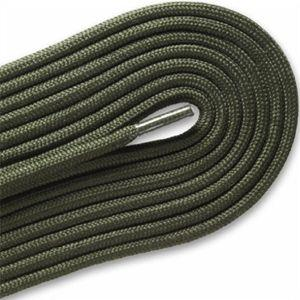 "Fashion Casual/Athletic Round 3/16"" Laces Custom Length with Tip - Olive Green (1 Pair Pack) Shoelaces from Shoelaces Express"