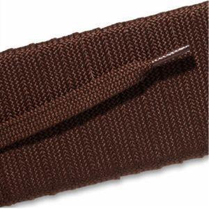 Fashion Athletic Flat Laces - Brown (2 Pair Pack) Shoelaces from Shoelaces Express
