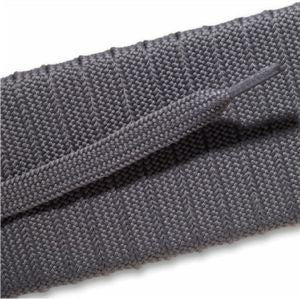 Fashion Athletic Flat Laces Custom Length with Tip - Gray (1 Pair Pack) Shoelaces from Shoelaces Express