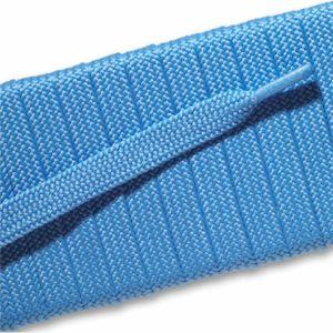 Fashion Athletic Flat Laces Custom Length with Tip - Light Blue (1 Pair Pack) Shoelaces from Shoelaces Express