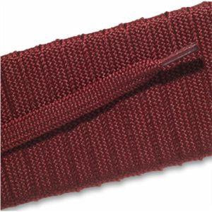Fashion Athletic Flat Laces Custom Length with Tip - Maroon (1 Pair Pack) Shoelaces from Shoelaces Express