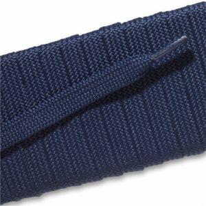 Fashion Athletic Flat Laces - Navy Blue (2 Pair Pack) Shoelaces from Shoelaces Express