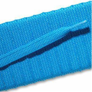 Fashion Athletic Flat Laces Custom Length with Tip - Neon Blue (1 Pair Pack) Shoelaces from Shoelaces Express