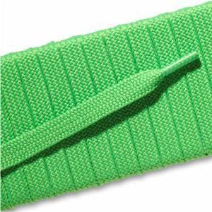 Fashion Athletic Flat Laces Custom Length with Tip - Neon Green (1 Pair Pack) Shoelaces from Shoelaces Express
