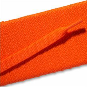 Fashion Athletic Flat Laces Custom Length with Tip - Neon Orange (1 Pair Pack) Shoelaces from Shoelaces Express