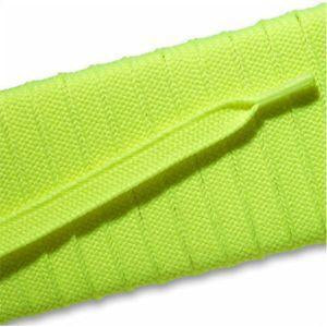 Fashion Athletic Flat Laces Custom Length with Tip - Neon Yellow (1 Pair Pack) Shoelaces from Shoelaces Express