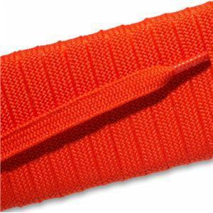 Fashion Athletic Flat Laces Custom Length with Tip - Orange (1 Pair Pack) Shoelaces from Shoelaces Express