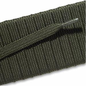 Fashion Athletic Flat Laces Custom Length with Tip - Olive Green (1 Pair Pack) Shoelaces from Shoelaces Express