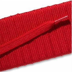 Fashion Athletic Flat Laces Custom Length with Tip - Scarlet Red (1 Pair Pack) Shoelaces from Shoelaces Express