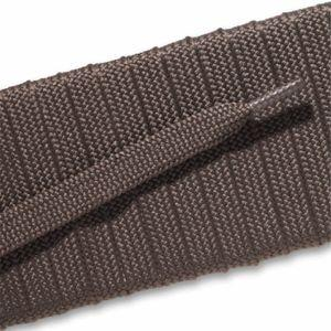 Fashion Athletic Flat Laces Custom Length with Tip - Taupe Gray (1 Pair Pack) Shoelaces from Shoelaces Express