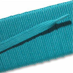 Fashion Athletic Flat Laces Custom Length with Tip - Turquoise (1 Pair Pack) Shoelaces from Shoelaces Express