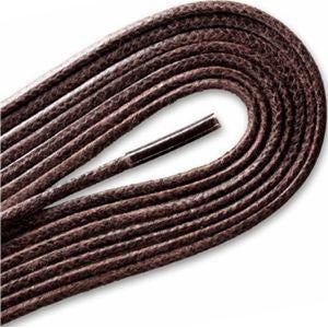 Waxed Cordo-Hyde Laces for Golf Shoes - Brown (2 Pair Pack) Shoelaces from Shoelaces Express