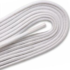 Waxed Cordo-Hyde Laces for Golf Shoes - White (2 Pair Pack) Shoelaces from Shoelaces Express