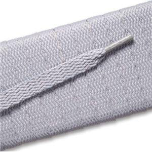 Flat Athletic Laces Gray Silver 36""