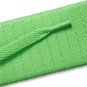 Flat Athletic Laces - Neon Lime (2 Pair Pack) Shoelaces from Shoelaces Express