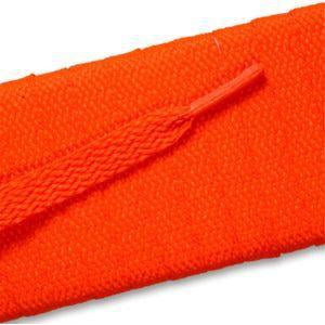 Flat Athletic Laces - Neon Orange (2 Pair Pack) Shoelaces from Shoelaces Express