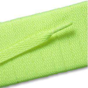 Flat Athletic Laces - Neon Yellow (2 Pair Pack) Shoelaces from Shoelaces Express