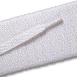 Flat Athletic Laces - White (2 Pair Pack) Shoelaces from Shoelaces Express