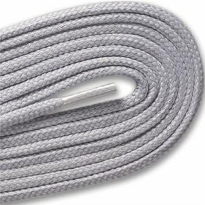 Round Athletic Laces - Gray Silver (2 Pair Pack) Shoelaces from Shoelaces Express