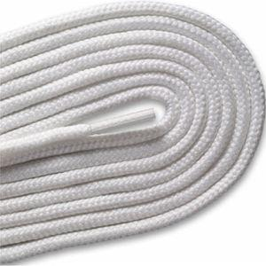 Round Athletic Laces - White (2 Pair Pack) Shoelaces from Shoelaces Express