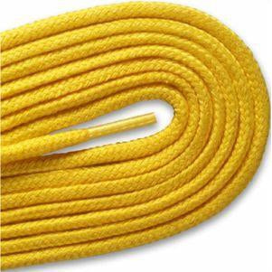 Round Athletic Laces - Yellow (2 Pair Pack) Shoelaces from Shoelaces Express